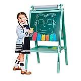 3 in 1 Holz Kind Staffelei, doppelseitige magnetische Reißbrett, Whiteboard & Tafel Tafel Staffelei...