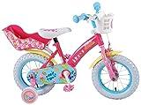 12 Zoll Kinderfahrrad mit Stützräder Fahrrad für Kinder ab 3 Jahre Peppa Pig Wutz Pink