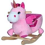 Deuba Schaukeleinhorn | Schaukeltier Plüsch Schaukel Wippe Pferd Einhorn Kinder Baby Spielzeug |...