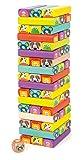 small foot 11973 Wackelturm Tiere aus Holz, 52 Spielsteine mit lustigen Tiergesichtern, für Kinder...
