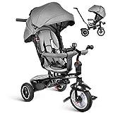 besrey Dreirad 7 in 1 Kinderdreirad Kinder Dreirad Kinder Fahrrad mit drehbarem Sitz lenkbarer...