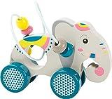 small foot 11088 Schiebetier Elefant 'Jungle' aus Holz, mit Motorikschleife und buntem Farbdesign,...