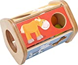 HABA 302973 - Sortierbox Steck-Snack | Sortierspiel mit lustigen Tiermotiven und Futter | Spielzeug...
