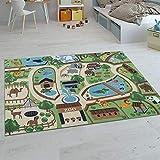 Paco Home Kinder-Teppiche, Kurzflor-Teppiche für Kinderzimmer mit vers. Designs Spielteppiche Bunt,...