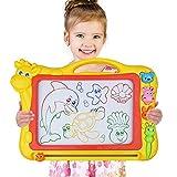 Magnetisches Zeichenbrett - Große (43 x 30 x 5 cm) Kinder Zaubertafel Doodle Board Pad Bunt...