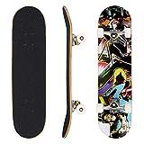 WeSkate Skateboard Komplett Board 79x20cm Holzboard ABEC-7 Kugellager 31 Zoll 7-lagigem Ahornholz,...