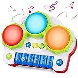 SGILE Spielzeug Klavier Keyboard Kinderpiano mit Trommel, Babyspielzeug mit Musik und Lichter,...