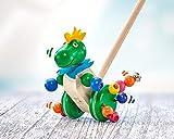 Selecta 62027 Tattolo, Schiebefigur, Schiebe-und Nachziehspielzeug aus Holz, 21 cm