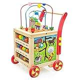 Nuheby Lauflernwagen Holz Lauflernhilfe Laufwagen für Babys ab 1 2 3 Jahre, 8 in 1 Laufwagen...