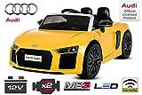 Nitro Motors Kinder Elektro Auto Audi R8 2x35W 2x6V Elektroauto Kinderfahrzeug Ferngesteuert Elektro...