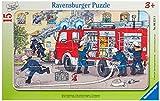 Ravensburger Kinderpuzzle 'Mein Feuerwehrauto' - 06321 / Rahmenpuzzle 15-teilig mit Feuerwehr-Motiv...