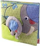 Haba 300146 - Stoffbuch Elefant Egon, weiches Knisterbuch mit vielen Fühl- und Spieleffekten,...