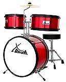 XDrum Junior KIDS Schlagzeug inkl. DVD rot