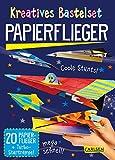 Kreatives Bastelset: Papierflieger: Set mit 20 Faltbögen, Anleitungsbuch und Falzhilfe: Falten für...