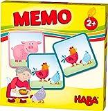 HABA 303759 - HABA-Lieblingsspiele - Memo Bauernhof | Memo-Spiel mit 16 extragroßen Karten | 8...