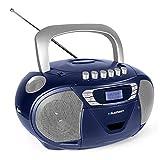 Blaupunkt B 110 BL, PLL, tragbarer Kinder CD Player, Hörbuch Funktion und USB mit Kassettenplayer,...