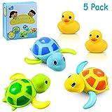 Yojoloin 3 Farben Baby Badespielzeug,Baby Bade Bad Schwimmen Badewanne Pool Spielzeug Uhrwerk...