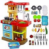 deAO Kinder-Küchenspielset 'My Little Chef'('Mein kleiner Koch') mit 30-teiligem Zubehör in den...