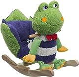 Bieco 74000342 - Plüsch Schaukeltier Frosch, grün, Kinder Schaukelstuhl, Sicherheitsgurt und...
