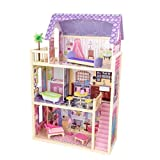 KidKraft 65092 Kayla Puppenhaus aus Holz mit Zubehör für 30cm große Puppen mit 10 Accessoires...