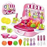 Rollenspiel Küche Spielzeug Kinder Kochen Lebensmittel Spielset für Kleinkind Mädchen 3 Jahre...