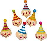small foot 6138 Kreisel 'Clown' aus Holz, mit Clownsgesichtern, als Geschenk oder für Geburtstage,...