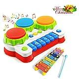 GoStock Musikspielzeug Baby Spielzeug xylophon musikinstrumente für Baby Klavier Keyboard und...