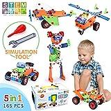 VATOS STEM Spielzeug Bausteine Bausatz 165 Teil Kreatives Bauen Gebäude Spielzeug Bausätze für...