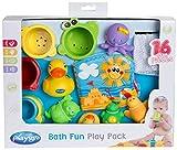 Playgro Badespielzeug-Set, 16-teilig, Ab 6 Monaten, BPA-frei, Playgro Badespielzeug Geschenkset,...