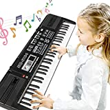 RenFox Keyboard, Digital Piano Tasten Keyboard mit 61 Klavier f¡§1r Kinder, Multifunktions...
