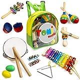Tomi Music - 18 teiliges Musikinstrumente Set für Kleinkinder, Vorschulkinder, Kinder und Babys -...