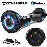 CITYSPORTS 6.5' Elektro Skateboard Board mit Bluetooth Hover Lautsprecher LED-Leuchten für Kinder...