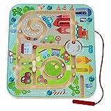Haba 301056 - Magnetspiel Stadtlabyrinth, pädagogisches Holzspielzeug für Kinder ab 2 Jahren,...
