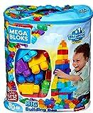 Mega Bloks DCH63 Bausteinebeutel Groß, 80 Teile, grundfarben