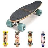 Holz Skateboard Kinder - Mini Cruiser Kickboard - Skateboard mädchen Rollen Board - hohe Qualität...