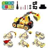 Amy & Benton Montage Spielzeug Auto Schrauben LKW, Lernspielzeug für 3 Jährige, 68 TLG 7 in 1...