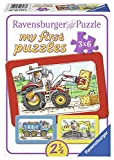 Ravensburger Kinderpuzzle 'Bagger, Traktor und Kipplader' - 06573 / 3 Rahmenpuzzles jeweils 6-teilig...