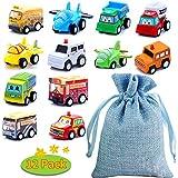 BBLIKE Spielzeugautos, 12 Stück Mini Auto zurückziehen Spielzeug Auto mit Spielzeug...