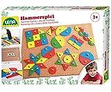 Lena 65827 - Hammerspiel Standard, Nagelspiel mit 72 farbigen Teilen in 9 verschiedenen Formen,...