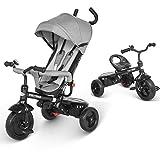besrey Dreirad 4 in 1 Kinderdreirad Dreirad für Kinder Tricycle mit Schubstange Sonnendach ab 1-6...