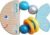 HABA 305582 - Greifling Klapperfisch, Babyspielzeug aus Holz für Kinder ab 6 Monaten in Fischform...