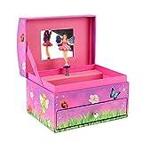 Toi-Toys FAIRIES Spieluhr mit Schublade, Schmuckkästchen für Mädchen pink mit Fee (Normal)