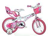 Minnie Maus Kinderfahrrad Mädchenfahrrad – 14 Zoll   Original Disney Lizenz   Kinderrad mit...