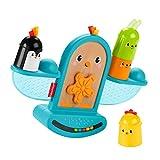 Fisher-Price GJW26 - Stapel und Schaukel Vögelchen, Babyrassel und Stapelspielzeug, Spielzeug ab 6...