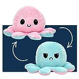 smartpillow Oktopus Kuscheltier - Reversible Octopus Plüschtier - niedliche doppelseitige Flip...