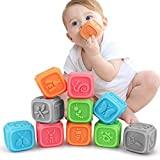 Baby Spielzeug ab 0 3 6 12 Monate , Weiche Baby Bausteine für Kleinkinder, Spielzeug für...