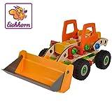 Eichhorn 100039057 - Constructor Radlader, 6 Modellvarianten möglich, 140 tlg., FSC 100%...