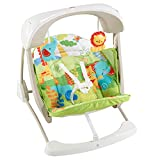 Mattel Fisher-Price CCN92 2 in 1 Babyschaukel im Regenwald Design, mit 6 Geschwindigkeitsstufen, 10...
