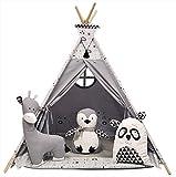 Izabell Kinder Spielzelt Teepee Tipi Set für Kinder drinnen draußen Spielzeug Zelt Indianer...