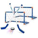 AMOYEE Air Power Hover Hockey Set mit 2 Toren, Super Spaß beim Hockey in Innenräumen, Perfekt für...